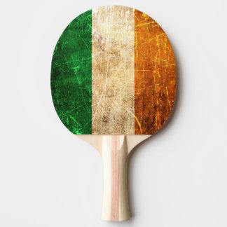 Raquette De Ping Pong Drapeau irlandais vintage rayé et porté