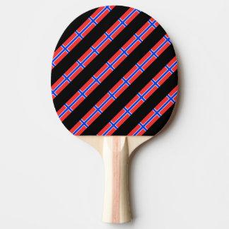 Raquette De Ping Pong Drapeau norvégien de rayures