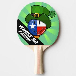 Raquette De Ping Pong Drapeau texan de sourire avec le jour de St