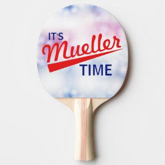 """Raquette De Ping Pong Drôle """"il est temps de Mueller """""""