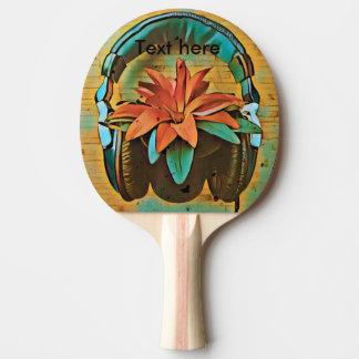 Raquette De Ping Pong écouteur de Cru-style sur le plante