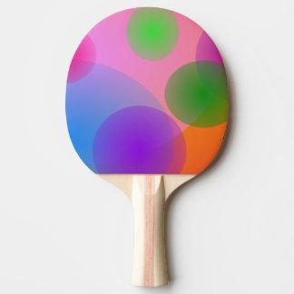 Raquette De Ping Pong Ellipses colorées