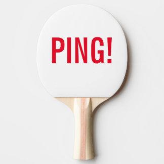 Raquette De Ping Pong Étiquette : PING ! et PONG ! ; Ping Pong raquettes