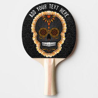 Raquette De Ping Pong Feliz Muertos - crâne fait sur commande de sucre
