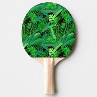 Raquette De Ping Pong Feuille de palmiers tropicaux