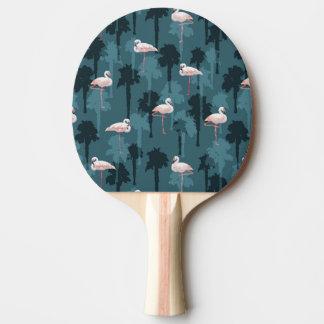 Raquette De Ping Pong Flamants en pastel sur Teal