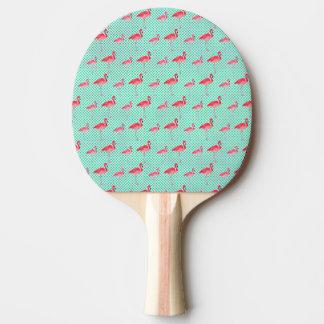 Raquette De Ping Pong Flamants roses tropicaux avec le pois en bon état