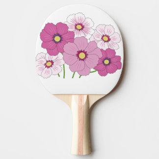 Raquette De Ping Pong fleurs