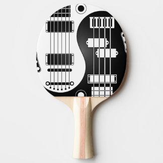 Raquette De Ping Pong Guitare et Yin bas Yang blanc et noir
