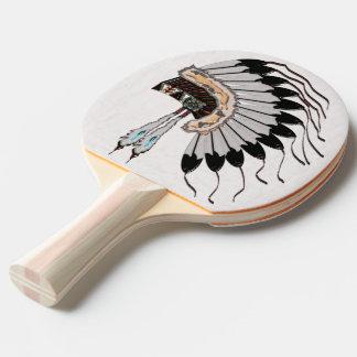 Raquette De Ping Pong Habillages de Natif américain