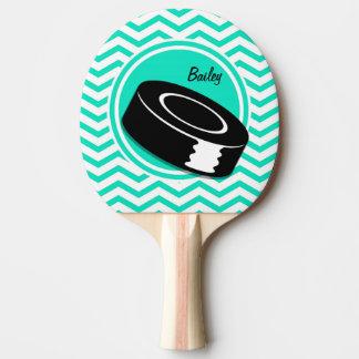 Raquette De Ping Pong Hockey sur glace ; Aqua Chevron vert