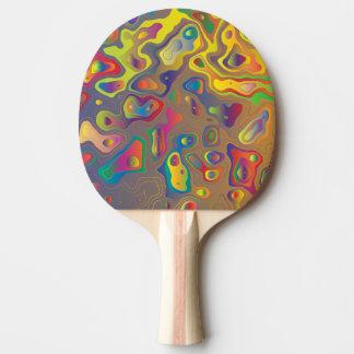 Raquette De Ping Pong Huiles psychédéliques