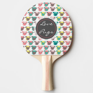 "Raquette De Ping Pong Illustration colorée adorable de carlins ""de"