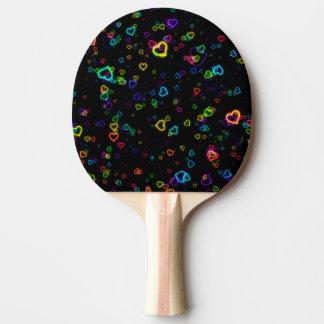 Raquette De Ping Pong J'aime U - néon heureux
