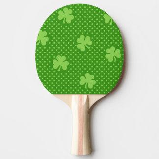 Raquette De Ping Pong Jour vert de Patricks de saint de motif de trèfle