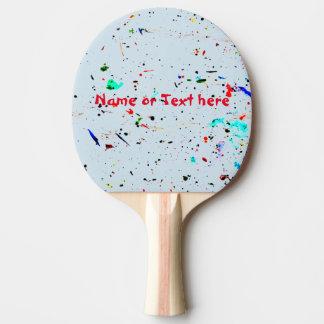 Raquette De Ping Pong La peinture d'art abstrait éclabousse et tacheté