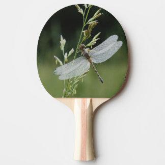Raquette De Ping Pong La rosée a couvert la libellule de Darner