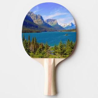 Raquette De Ping Pong Lac st. Mary, parc national de glacier, Montana