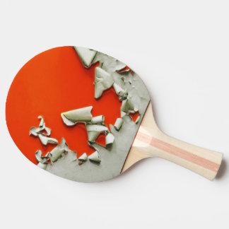 Raquette De Ping Pong lambeaux oranges en métal