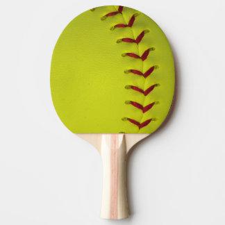 Raquette De Ping Pong Le base-ball jaune au néon