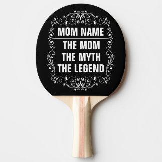 Raquette De Ping Pong Le jour de mère heureux de maman