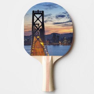 Raquette De Ping Pong Le pont de baie de l'île de trésor