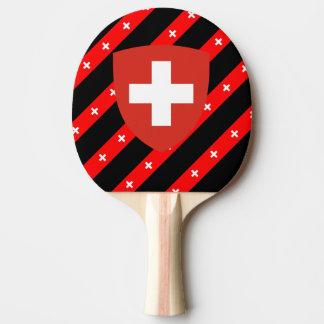 Raquette De Ping Pong Le Suisse barre le drapeau