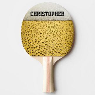 Raquette De Ping Pong Le verre de bière personnalisent