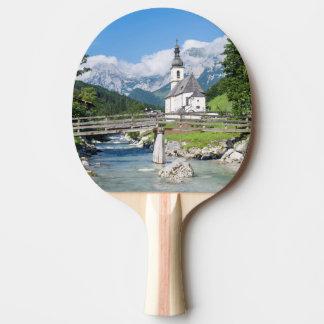Raquette De Ping Pong L'église paroissiale de Ramsau