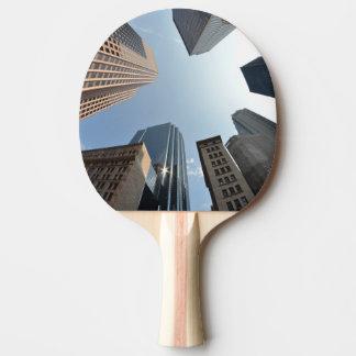 Raquette De Ping Pong lentille de Poisson-oeil du bâtiment, Boston, USA