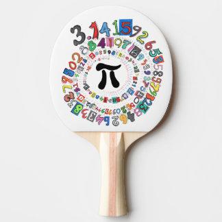 Raquette De Ping Pong Les chiffres de pi forment une spirale colorée