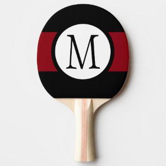 Raquette De Ping Pong Ligne noire, blanche et rouge élégamment élégante