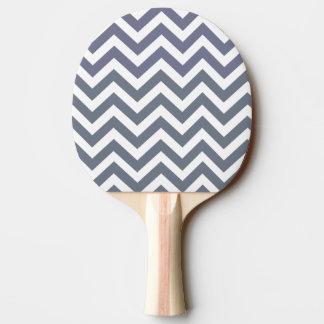 Raquette De Ping Pong Lignes blanches grises chics modernes motif