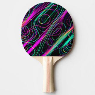 Raquette De Ping Pong Lignes sinueuses multicolores au néon TRÈS