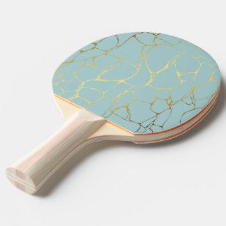 Raquette De Ping Pong marbrez, monnayez, or, moderne, à la mode, beau,