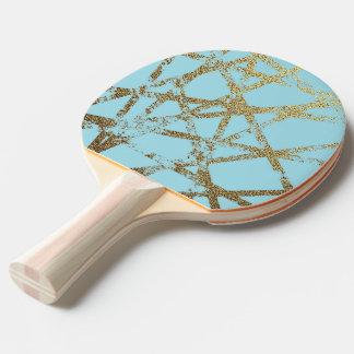 Raquette De Ping Pong Moderne, abstrait, peint à la main, l'or raye la