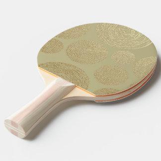 Raquette De Ping Pong moderne, or, pois, métallique, élégant, chic, Han