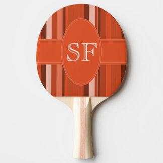 Raquette De Ping Pong Monogramme orange de rayure
