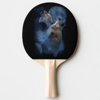 Raquette De Ping Pong Montagne de lune de loup d'imaginaire