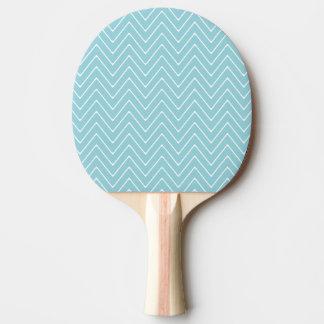 Raquette De Ping Pong Motif blanc bleu 2A de Chevron