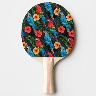 Raquette De Ping Pong Motif d'ara et de ketmie