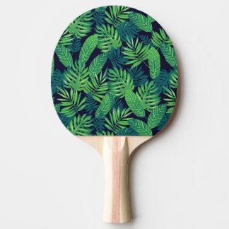 Raquette De Ping Pong Motif tropical de feuille