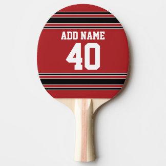Raquette De Ping Pong Nombre nommé fait sur commande du Jersey de sports