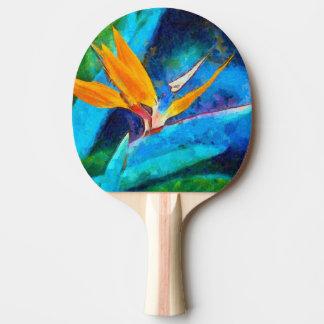 Raquette De Ping Pong oiseau de fleur de paradis