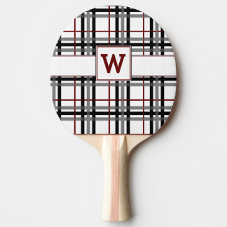 Raquette De Ping Pong Palette blanche et rouge noire de ping-pong de