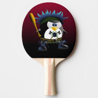 Raquette De Ping Pong Palette bleue de ping-pong de pingouin d'anarchie