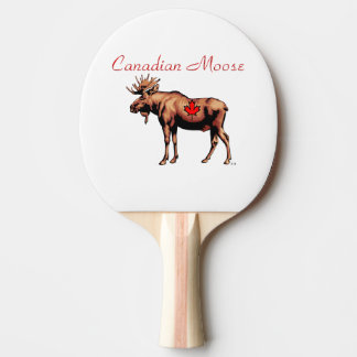 Raquette De Ping Pong Palette canadienne de ping-pong d'orignaux