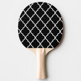 Raquette De Ping Pong Palette de ping-pong de motif de Quatrefoil