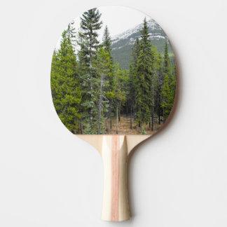 Raquette De Ping Pong Palette de scène de forêt et de montagne