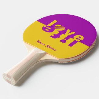 Raquette De Ping Pong Palette faite sur commande de ping-pong de la VIE